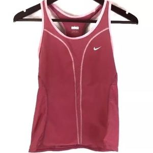 Nike Racerback Athletic Workout Tank Top Pockets